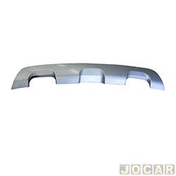 Moldura do para-choque - importado - Sandero Stepway 2014 em diante - prata - traseiro - inferior - cada (unidade) - 25690