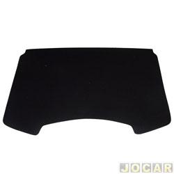 Tampão do porta-malas - alternativo - MLC - Sandero 2007 até 2014 - de madeira compensado 10mm com carpete - preto - cada (unidade) - 500156