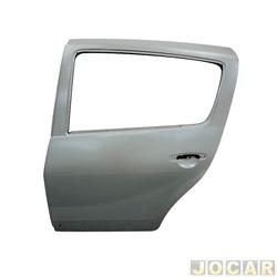 Porta - importado - Sandero 2007 até 2014 - traseira - lado do motorista - cada (unidade) - 29615
