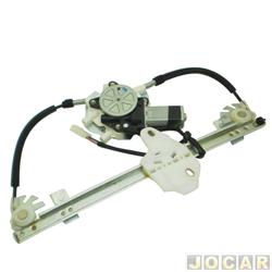 Kit vidro elétrico - Logan 2007 até 2013 - inteligente - 2 portas - UNA - 11174 - traseiro - jogo