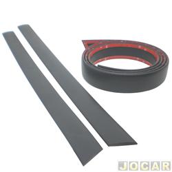 Protetor do para-choque - alternativo - Logan 2007 até 2013 - auto colante - preto - jogo