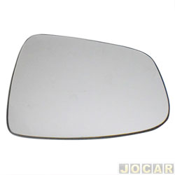 Lente do retrovisor com base - SPJ - Sandero 2008 at� 2014/Logan 2010 at� 2013 - Stepway 2011 at� 2014/Duster 2011 at� 2015 - prata - lado do passageiro - cada (unidade) - EB674