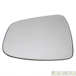 Lente do retrovisor com base - SPJ - Sandero 2008 at� 2014/Logan 2010 at� 2013  - Stepway 2011 at� 2014/Duster 2011 at� 2015 - prata - lado do motorista - cada (unidade) - EB673