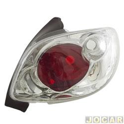 Lanterna traseira tuning - alternativo - RCD / InovWay - 206 - 2001 até 2010 - Inovox - cristal (branca) - traseiro - lado do passageiro - cada (unidade) - IE 2442