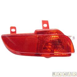 Lanterna do para-choque - Fitam - Peugeot 207 hatch 2008 até 2013 - antineblina - vermelha - traseiro - lado do motorista - cada (unidade) - 34083-E