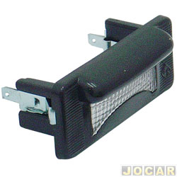 Lanterna da placa - alternativo - Sprinter 1997 até 2012 - MB180 1993 até 1996 - cada (unidade)