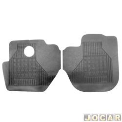 Tapete de borracha - Borcol - Hyundai HR 2005 em diante - 2 peças - preto - dianteiro - par - 01760021