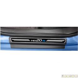 Aplique da soleira - NP Adesivos - HB20S 2012 em diante  - premium elegance - 4 portas - auto colante  - jogo - NP-002113
