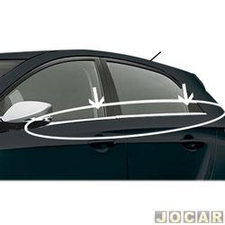 Friso da janela - alternativo - HB20 2012 em diante - Aplique - auto colante - cromado - jogo