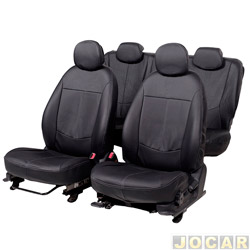 Capa para banco - Car Fashion - HB20 2012 em diante - inteiriço - courvin - dianteiro/traseiro - preto - jogo - 1189