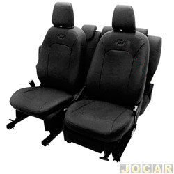 Capa para banco - Car Fashion - Etios - Courvin - preto - jogo - 6406