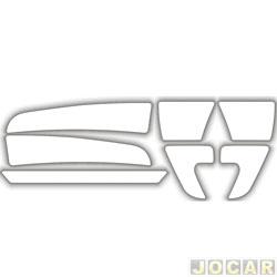 Protetor do para-choque - Sport Inox - HB20 2012 em diante - transparente - 7 peças - autoadesivo - jogo - PROT019