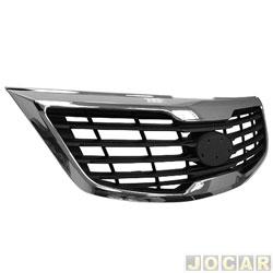 Grade dianteira - importado - Kia Sportage - 2010 até 2015 - com friso cromado - cada (unidade) - 31340