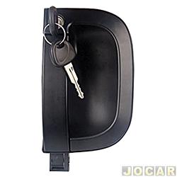 Maçaneta externa da porta - alternativo - Bongo 2005 em diante - com chave - preta - dianteiro - lado do passageiro - cada (unidade)