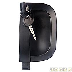 Maçaneta externa da porta - Bongo 2005 em diante - com chave - preta - dianteiro - lado do motorista - cada (unidade)