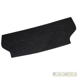 Tampão do porta-malas - alternativo - MLC - Soul 2008 até 2014 - de madeira compensado 10mm com carpete - grafite - cada (unidade) - 500230