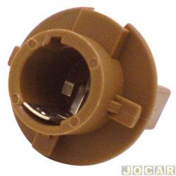 Soquete da lanterna traseira - alternativo - Fit 2003 até 2008 - 2 polo pino desencontrado - marrom - cada (unidade)