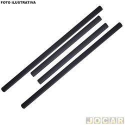 Protetor do para-choque - alternativo - Fit 2009 até 2014 - auto colante - preto - jogo