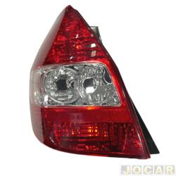 Lanterna traseira - alternativo - Acrilux - Fit 2003 até 2008 - lado do motorista - cada (unidade) - 7700-E