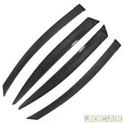 Calha de chuva - TG Poli - Civic 2012 em diante - 4 Portas - acr�lica - auto-adesiva - fum� - jogo - 28.006