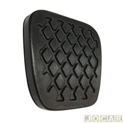 Capa de pedal - Civic 1997 até 2016 - freio e embreagem - preta - cada (unidade)