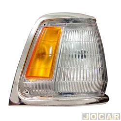 Lanterna dianteira - TYC - Hilux 1992 até 2001 aro cromado - lado do passageiro - cada (unidade) - 591228