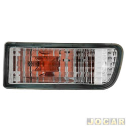 Lanterna do para-choque - Depo - Hilux SW4 1999 até 2002 - cristal (branca) - lado do passageiro - cada (unidade) - 591240
