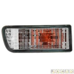 Lanterna do para-choque - Depo - Hilux SW4 1999 até 2002 - cristal (branca) - lado do motorista - cada (unidade) - 591241