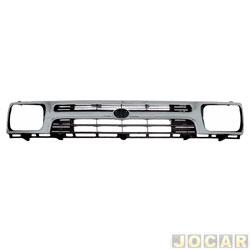 Grade dianteira - importado - Hilux Pick-up 4x2 1992 até 1998 - cinza - cada (unidade) - 59226