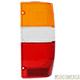 Lente da lanterna traseira - importado - Hilux pick-up 4x4/4X2 1992 até 2001 - lado do motorista - cada (unidade) - 59242