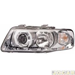 Farol - Hella - Audi A3 2001 até 2006 - lâmpada H1/H7 - elétrico - lado do motorista - cada (unidade) - 1EL.008.306.031