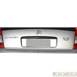 Friso aplique do capô traseiro - Sport Inox - Citroen C3 2003 em diante - auto colante - resinado - aço escovado - cada (unidade) - CT001FSIE