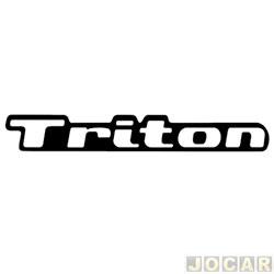 Letreiro - alternativo - L200 2007 até 2012 - Triton - resinado - auto colante - cada (unidade)