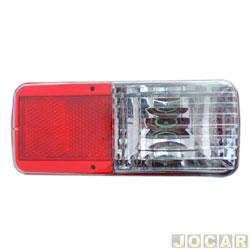 Lanterna do para-choque - Arteb - Mitsubishi L200 HPE 2003 até 2006 - direito/esquerdo - com luz de ré - traseiro - cada (unidade) - 0460278