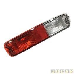 Lanterna do para-choque - alternativo - Depo - Pajero 2003 até 2007 - neblina - vermelho e branco - traseiro - lado do passageiro - cada (unidade) - 64705