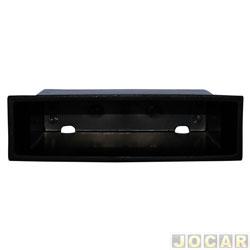 Porta objetos - alternativo - March 2011 até 2014 - com acabamento 2 din - preto - cada (unidade)