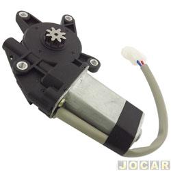 Motor da máquina de vidro - alternativo - encaixe Mabushi - universal - 8 dentes - cabo energia cinza - lado do motorista - cada (unidade)