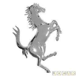 Emblema - alternativo - cavalo ferrari - cromado - cada (unidade)