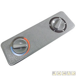 Tampa buraco do rádio - Autopoli - Encaixe - imita o botão do ar - cinza - cada (unidade) - AP139