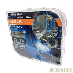 Lâmpada do farol - Osram Sylvania - H4 - farol principal - Cool Blue (luz mais branca) - 4200K - jogo - 64193CBL