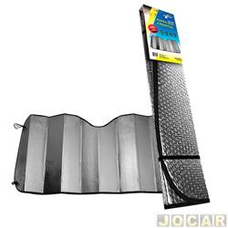 Para-sol do para-brisa - importado - dobrável - pode ser usado no vidro traseiro - cromado - cada (unidade) - NVA630