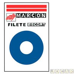 Faixa adesiva - alternativo - 10 metros - faixa paralelas  - azul - cada (unidade)