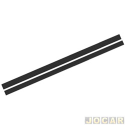 Faixa adesiva - alternativo - 10 metros - faixa paralelas  - preta - cada (unidade)