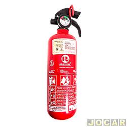 Extintor de incêndio - Resil - pó ABC - 3,5 polegadas - 1 kg val. plástica - leia detalhes. - cada (unidade) - R 988