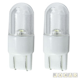 Lâmpada - Autopoli - esmagada grande - led branco - 12 volts - par - AP712