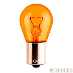 Lâmpada - Osram Sylvania - 1 polo - pinos desencontrados - âmbar (amarela) - cada (unidade) - 7507A âmbar