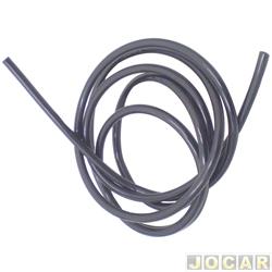 Mangueira de esguicho - do para-brisa - plástica - 4x6mm - preta - metro