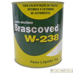 Massa anti-ruído - Brascoved W-238 para calafetação - 1Kg - bege - cada (unidade)
