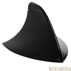 Antena do teto - traseira - decorativa modelo tubarão - autoadesiva - preta - cada (unidade)