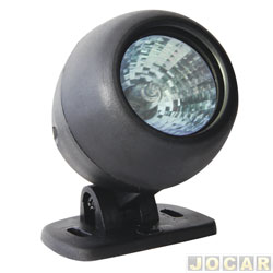 Farol de milha - Autopoli - UNIVERSAL-redondo-lampada dicróica 50w-12V branca - cada (unidade) - AP071